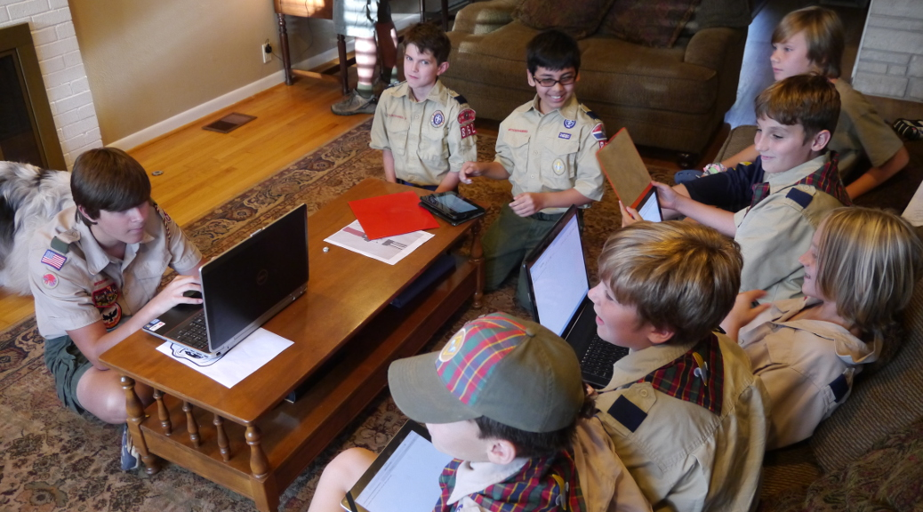 Boys with computers