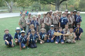 Pack 862 after receiving an award from For The Love of the Lake.
