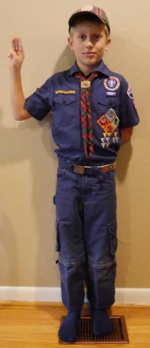 Example Cub Scout field uniform